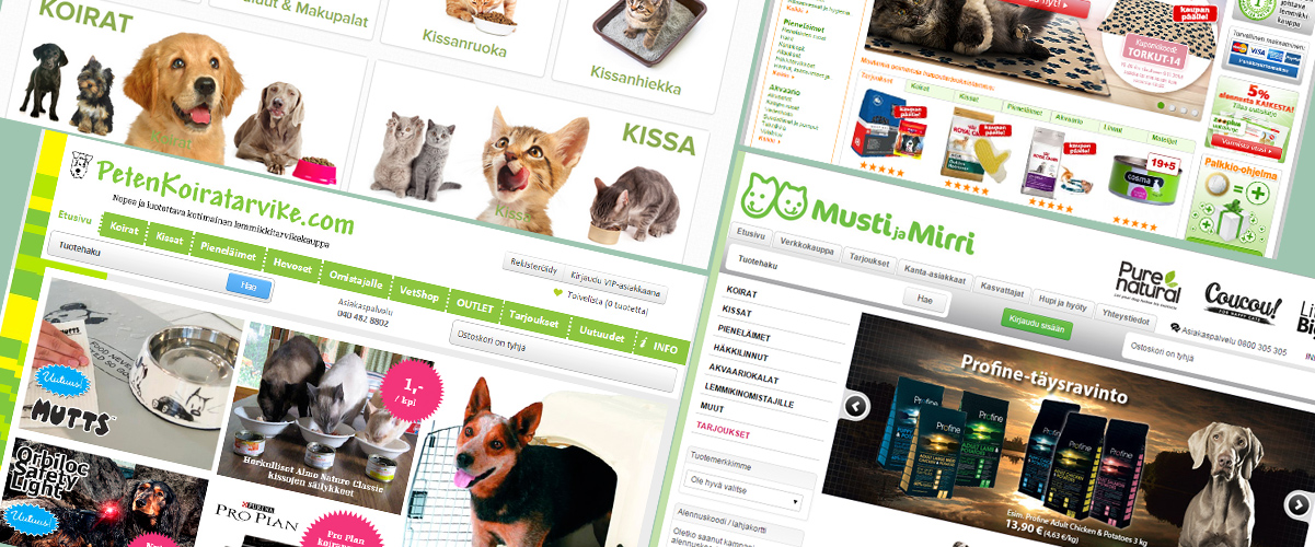 Lemmikkien ruokaa netistä